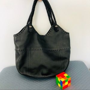 The SAK Indio Large Black Leather Tote